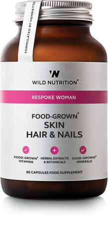 FOOD-GROWN® Skin Hair and Nails - 60 caps