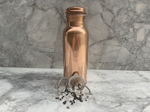 Mini Copper Bottle with Vibrational Crystal Pod - EMF Shield