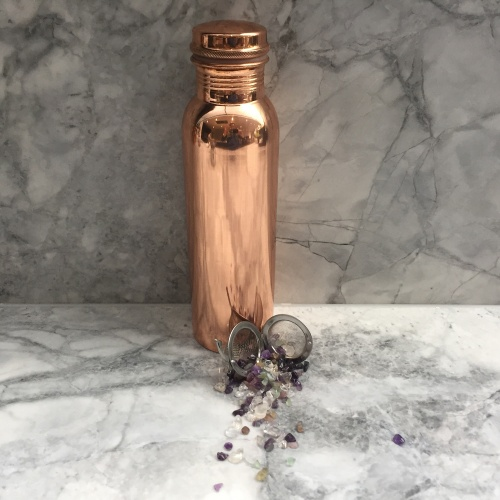 Copper Bottle with Vibrational Crystal Pod - Focus & Concentration