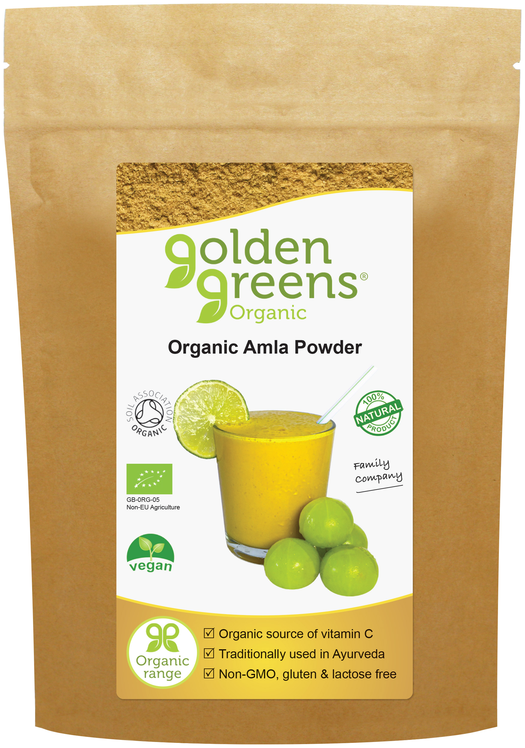 Golden Greens Organic Amla Fruit Powder 200g