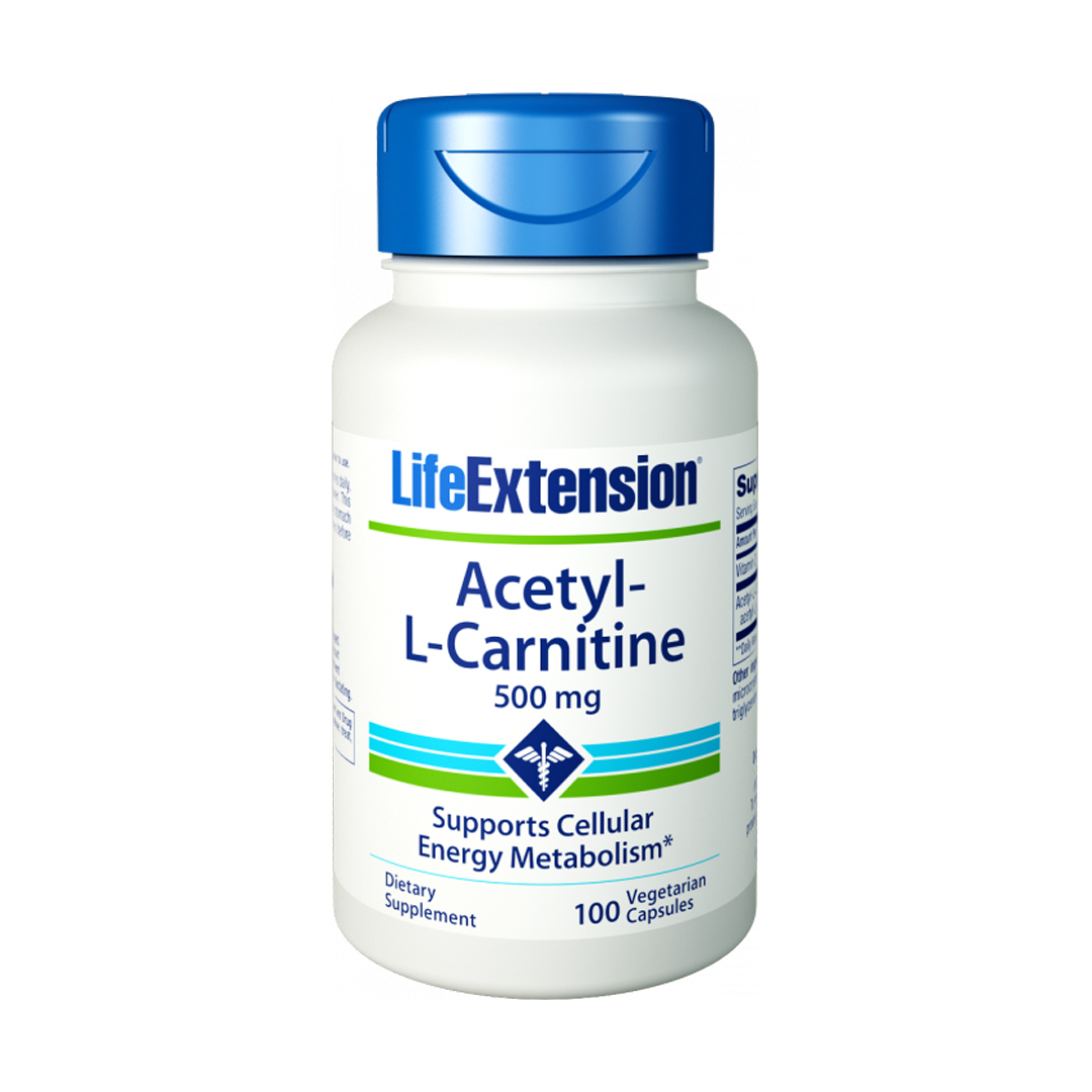 Acetyl-L-Carnitine 500mg - 100 caps