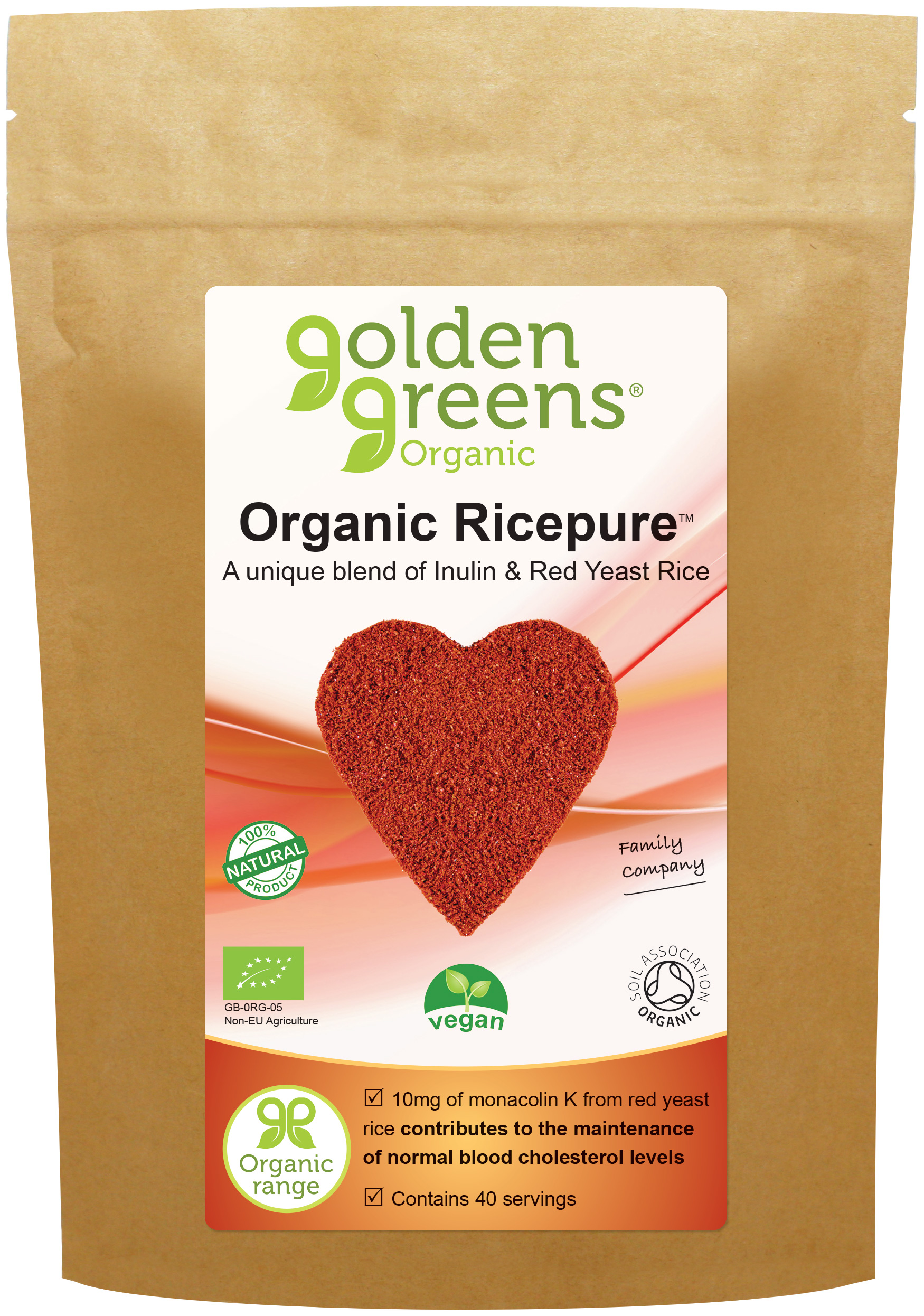 Golden Greens Organic Inulin with Red Yeast Rice 200g