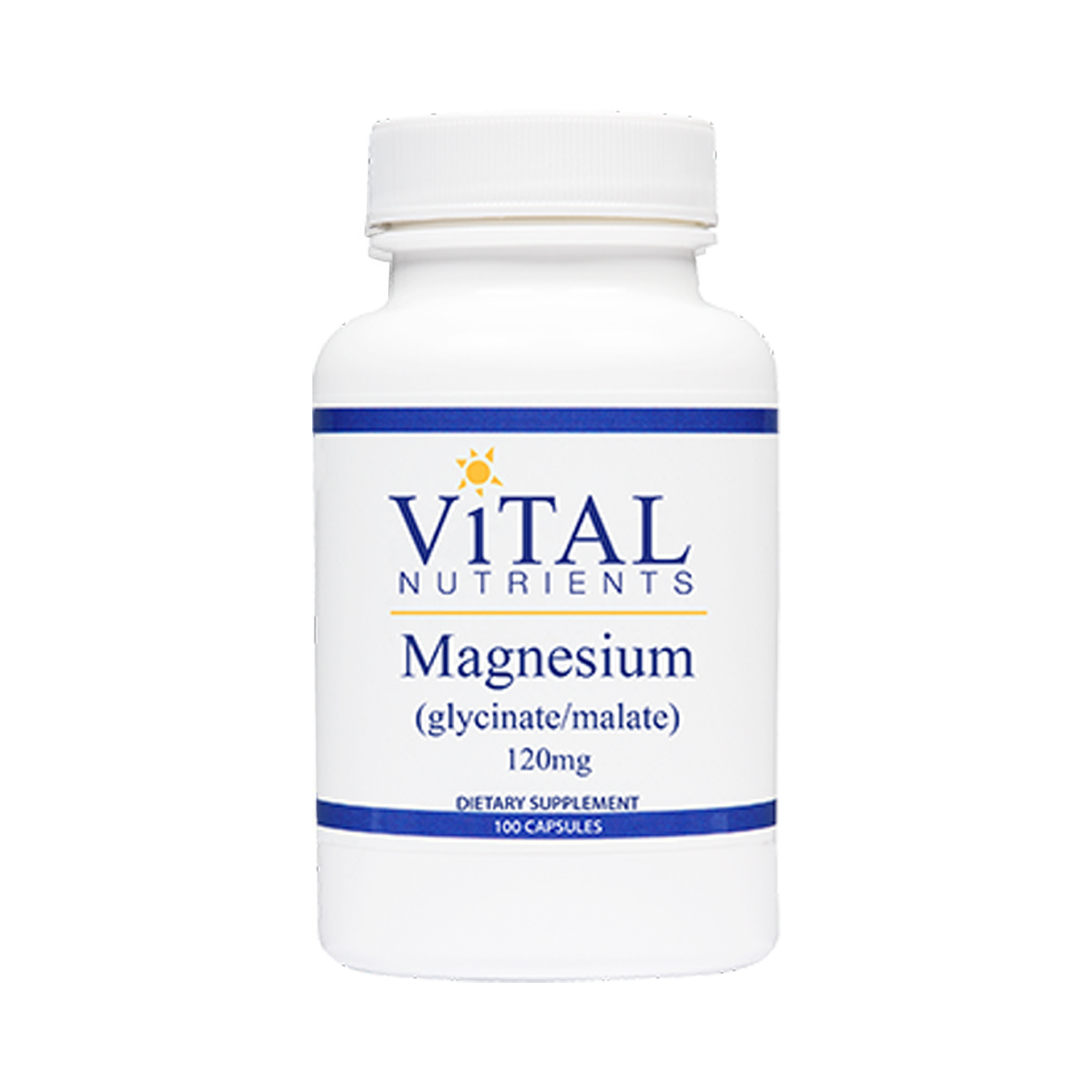 Magnesium (Glycinate/Malate) 120mg - 100 vCapsules