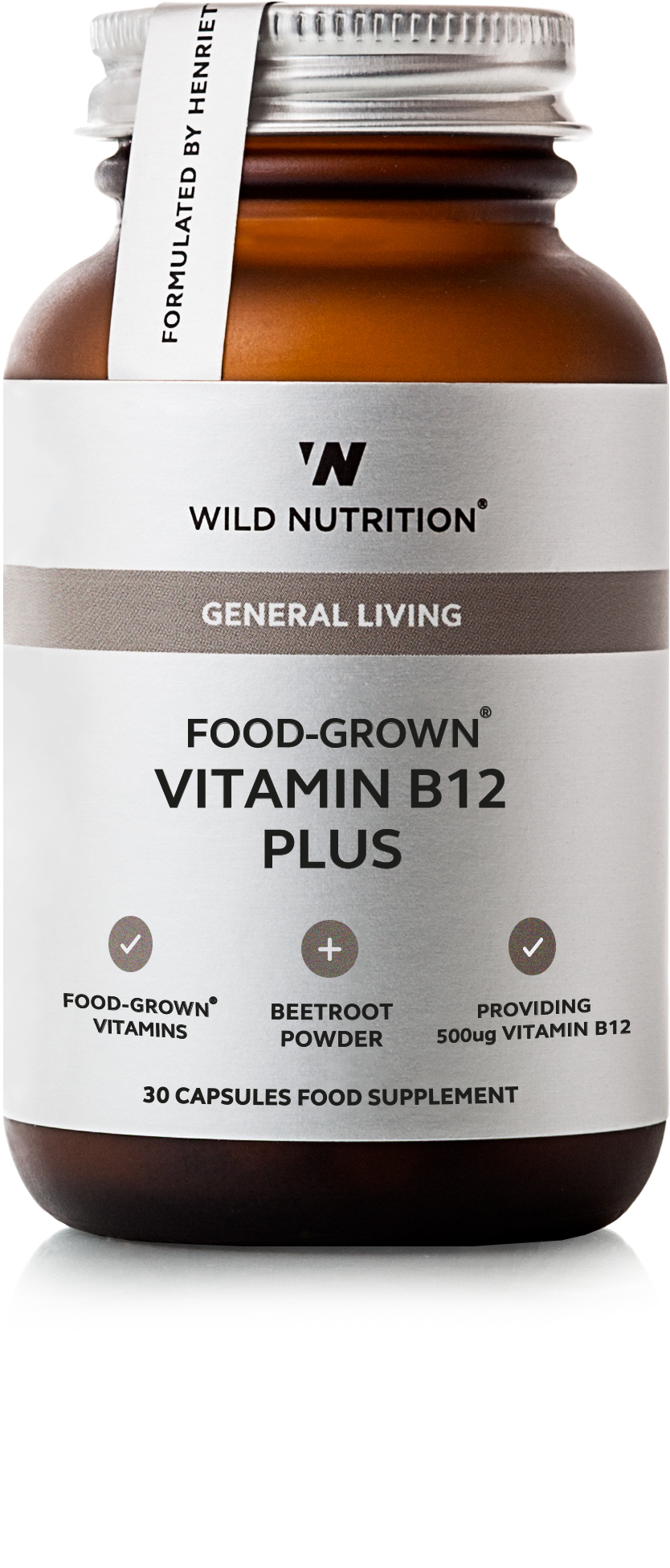 FOOD-GROWN® Vitamin B12 Plus - 30 caps